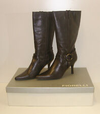 FIORELLI WOMENS POINTY WINTER BOOTS MATANA CHOC SIZE 9 LEATHER LADIES rrp$279.95