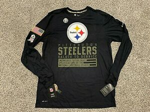 2020 Pittsburgh Steelers Nike Salute to Service Dri-Fit Long Sleeve Shirt S - 3X