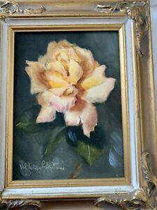 Vintage 'Peace Rose' By Australian artist Valmai Pratten