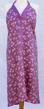 Toast cerise pink floral print halter neck silk dress UK 10 BNWT