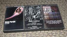 Lot of 3 DEEP PURPLE rock albums cassette tape Self Titled/Shades of/Fireball
