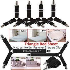 Triangle Bed Sheet Mattress Holder Fastener Grippers Clips Suspender Straps UK