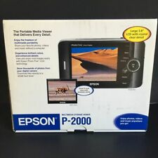 Epson P-2000 Media Viewer Photo Video Music 40 Gb Hard Drive 3.8 Screen Sd Lcd