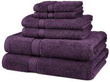 Pinzón de algodón egipcio de 6 piezas Juego de toallas ciruela nuevo libre envío