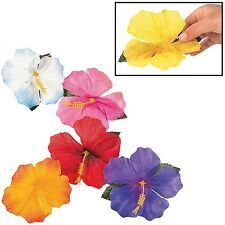 """Decorative Hibiscus Flowers Polyester (24 Pieces) Assorted Colors 4 1/2"""""""