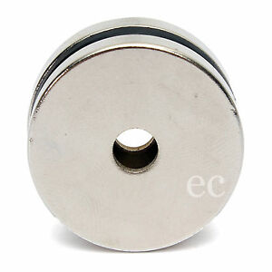 (Pack of 1) 30mm x 3mm Strong Disc Round NdFeb Neodymium Magnet With 5mm Hole