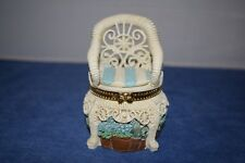 Collectible Resin Wicker Cottage Chair Hinged Trinket Box From Lady Jayne Ltd
