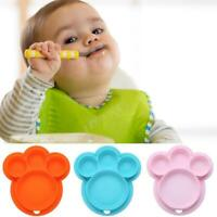 Baby Kid Toddler Silicone Food Tray Feeding Snack Dinner Dish Mat Plate Placemat