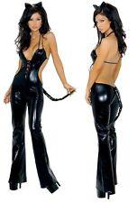 Ladies 3PC Feisty Feline Fancy Dress M/L 10-12 UK Roma Costume  Hen Night