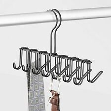 Hanger Tie Belt Rack 14 Hooks Mount Steel Wire Holder Closet Storage Matte Black