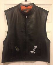 First Classics Leather Motorcycle CLUB PATCH Vest M656 & Harley Patches Size L