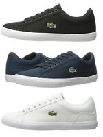 Lacoste Lerond BL 2 Men's Casual Canvas Loafer Shoes Sneakers Black Blue White