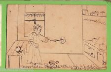 #C.  1906 HOME MADE & DRAWN   POSTCARD TO ROZELLE