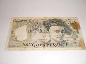 BILLET BANQUE DE FRANCE  50 FRANCS 1990
