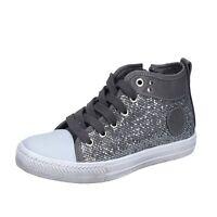 scarpe bambina SOLO SOPRANI 31 EU sneakers grigio glitter pelle BS37
