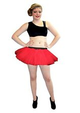 Ladies Neon UV Red Tutus Skirt Hen Night/Night Out 6-16