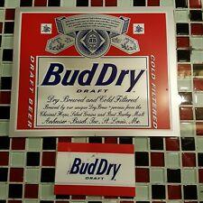 VTG Bud Dry REPLACEMENT Neon Beer Sign INSERT Anheuser Busch Bud Light Budweiser