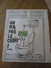 CHARLIE HEBDO N°180 MITTERRAND CHIOTTE CHOIX PRESIDENT CABU SINE 29 avril 1974