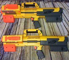 2 Yellow Nerf N-Strike Deploy CS-6 Soft Dart Blaster Toy Gun Rifles Lot Tested!