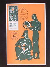 ISRAEL MK 1955 MUSIKINSTRUMENTE ZIMBEL MAXIMUMKARTE MAXIMUM CARD MC CM c5625