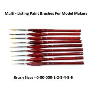 Fine Detail Art  Brush  Miniature Paint Brush Sable Multi-Listing