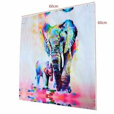 NOT FRAMED 20x20' Canvas Print Wall Art Abstract Watercolor Elephant Home Decor