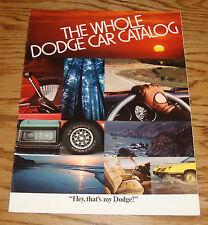Original 1979 Dodge Car Full Line Sales Brochure 79 Challenger Colt Magnum