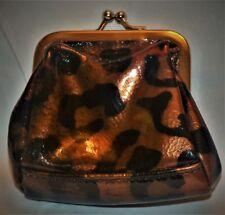 Miche coin purse change purse Brown Black Animal Print Lisa Silver Hardware NWT