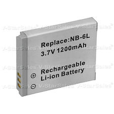NB-6L NB-6LH Battery for Canon PowerShot SD4000 SX500 SX260 SX270