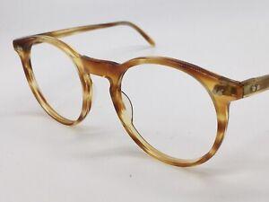 Glasses True Vintage Round Panto Size Braun Transparent Large M 1980er