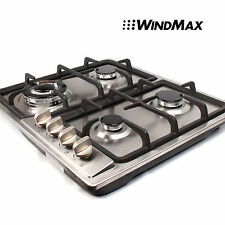 "23"" Stainless Steel 4 Burner Stoves Gas Hob Cooktops Cooker Gas Oven 11259Btu/H"