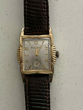 1950'S BULOVA L7 Cal 11AC 10 kt RGP Bezel NEW YORK 17J Unique Case Men's Watch