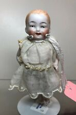 3.5� Antique German All Bisque Unbranded Jointed Limbs Baby Painted Face Cm #Sf5