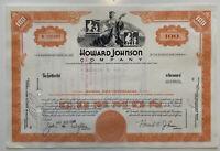 Share certificate: Howard Johnson Company