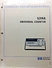 HP 5314A Universal Coiunter Operating & Service Manual P/N 05314-90001 *NEW*