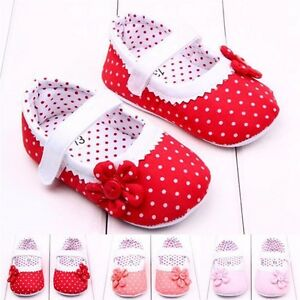 Baby Infant Kids Boy Girl Soft Sole Crib Toddler Newborn Shoes 0-18 months new
