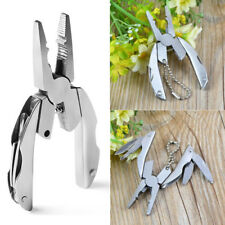 EDC Multi Function Folding Keyring Screwdriver Plier Knife Survival Pocket Tools