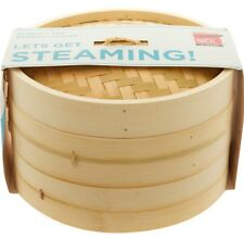 DEXAM 25cm Bamboo Two Tier Steamer