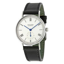Nomos Ludwig White Dial Black Leather Unisex Watch 205