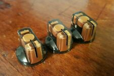 20 JAT Pointer Knobs With Set Screw, Fits Guitar Amps and Pedals... Gold/Black