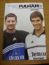 16/10/1999 Fulham v Swindon Town  . Item appears to be in good condition unless