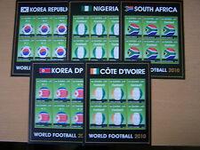 Gambia, 2010, WORLD FOOTBALL .5 diversi sheetlets, CAT £ 67.50. U/Nuovo di zecca. eccellente.