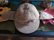 Vintage Harrods Country Sports Deerstalker Hat British Detective Cap
