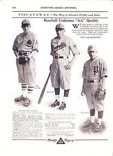 1930 Sporting Goods Journal Ad Vintage Piscataway Baseball Uniforms Pro Amateur
