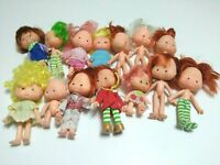 Vintage Lot of 14 Dolls American Greetings 1979 Strawberry Shortcake Small
