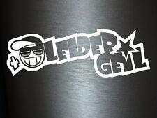 1 x 2 Plott Aufkleber Leider Geil Shocker Mütze Sticker Tuning Turbo Fun Gag