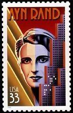 1999 33c Ayn Rand, Writer, Atlas Shrugged Scott 3308 Mint F/VF NH