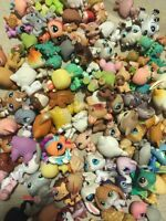 Littlest Pet Shop random Lot of 5 pets  LPS mouse Dog Cat Horse and More