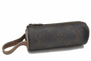 Authentic Louis Vuitton Monogram Etui 3 Golf Ball Case M58249 LV E2893