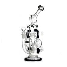 10 inches Glass Recycler Bong Percolator Glass Bong Water Pipes Smoking Hookah